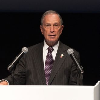 New York City mayor Michael R. Bloomberg speaks during the Museum of the Moving Image and the Jim Henson Legacy collaboration press conference at the Museum of the Moving Image on May 21, 2013 in New York City.