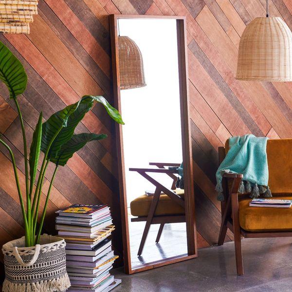 Drew Barrymore Flower Home Wood Rectangle Leaner Mirror