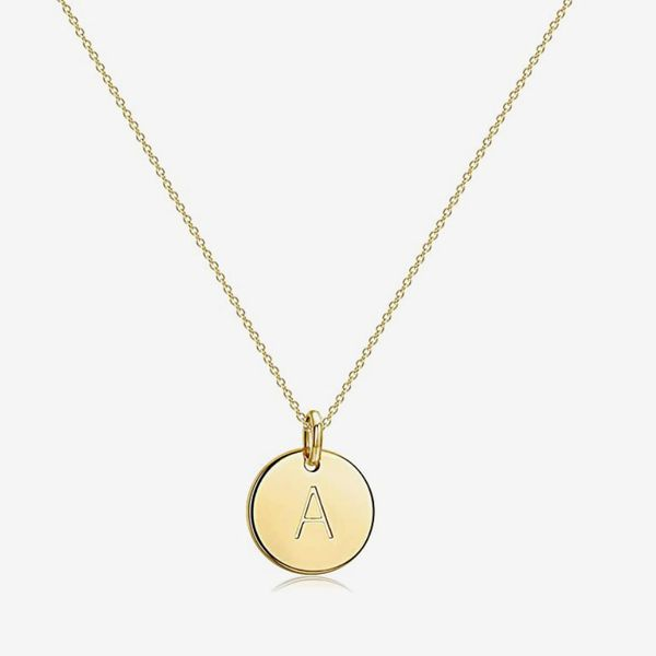 Befettly Initial Necklace, 14K Gold
