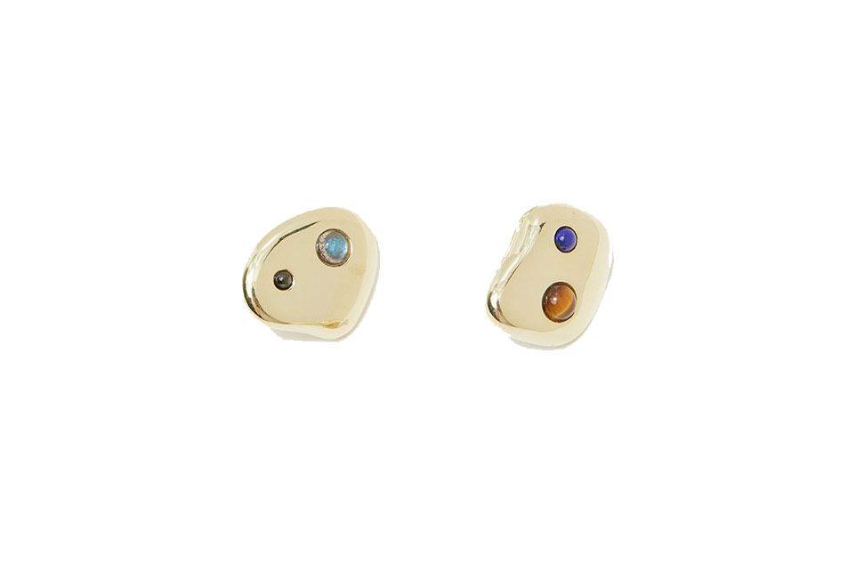 Multistone Pebble Earrings