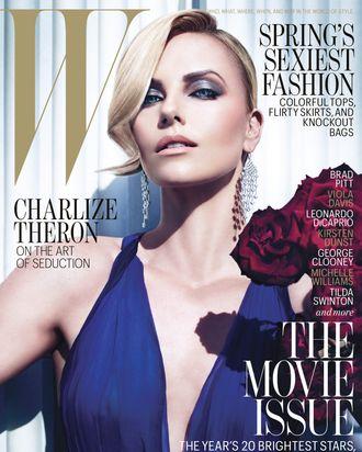 Charlize's February <em>W</em> cover.