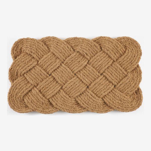 Hand-woven Knot-ical Coconut Fiber Doormat