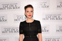 "Actress Scarlett Johansson attends the ""Cat On A Hot Tin Roof"" Broadway opening night after party at The Lighthouse at Chelsea Piers on January 17, 2013 in New York City.  (Photo by Stephen Lovekin/Getty Images)"