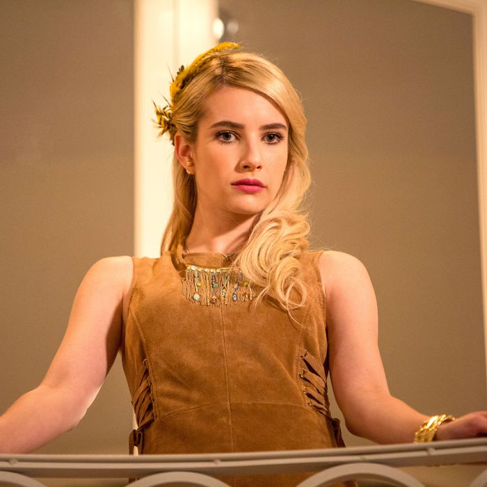 SCREAM QUEENS: Emma Roberts in the