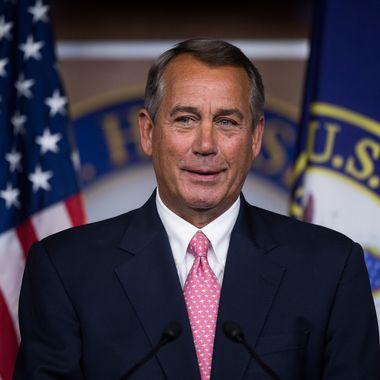 Speaker of the House John Boehner, R-Ohio, holds his weekly press briefing on Thursday, Feb. 27, 2014