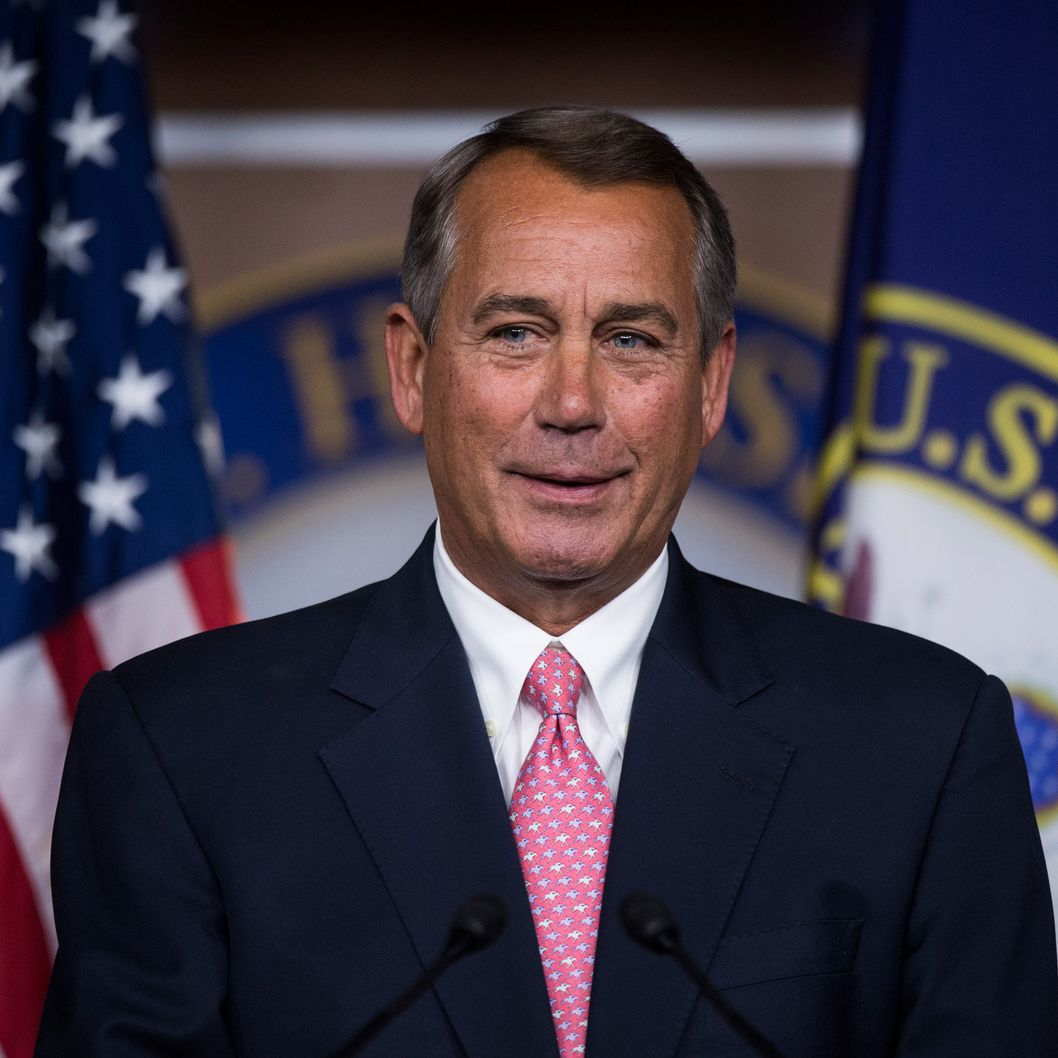 Speaker of the House John Boehner, R-Ohio, holds his weekly press briefing on Thursday, Feb. 27, 2014