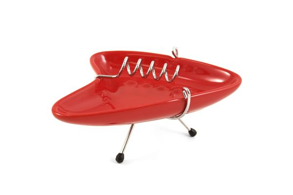 Oggi Red Retro '50s Wired Ashtray