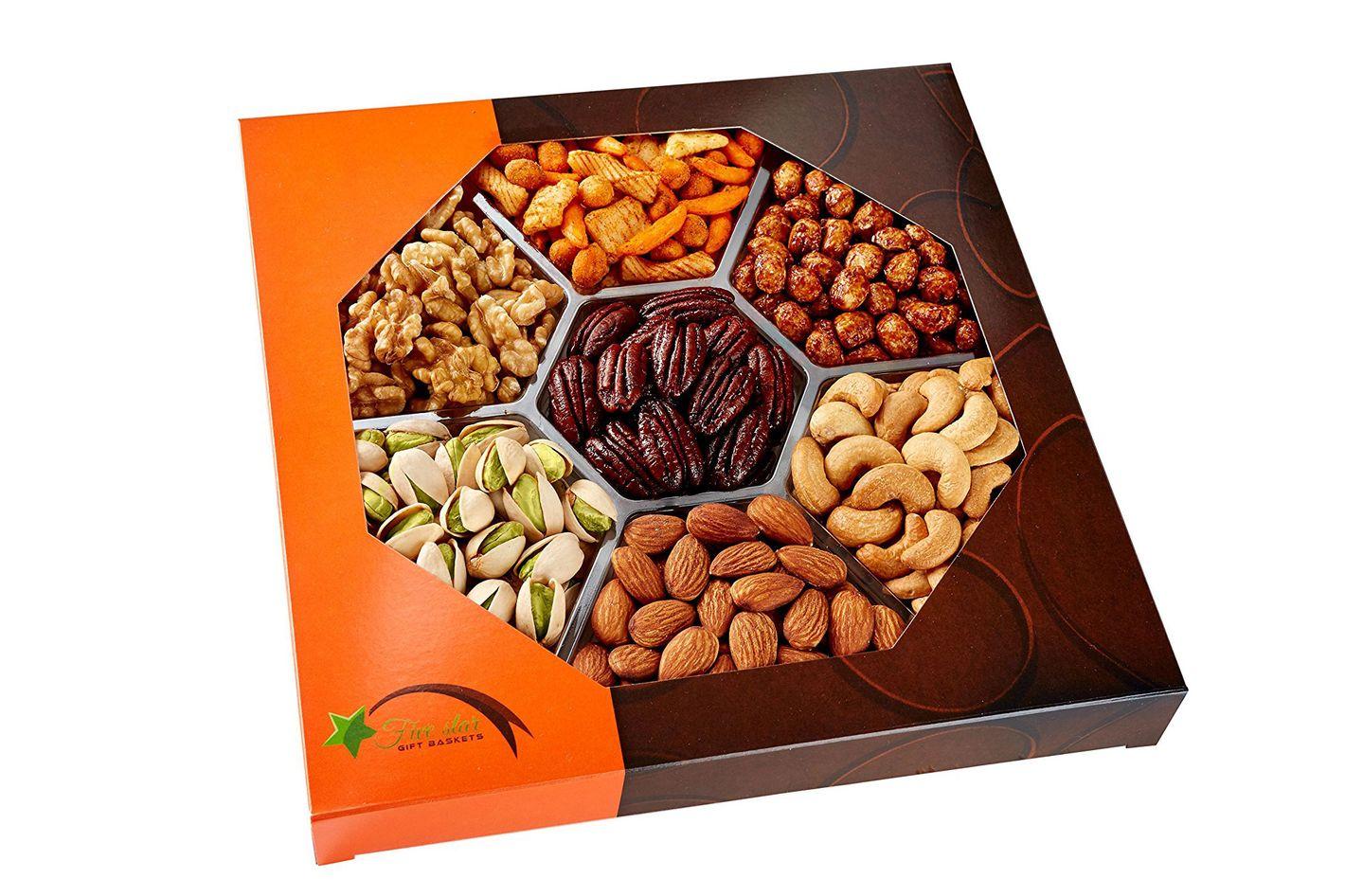 Holiday Gourmet Food Nuts Gift Basket