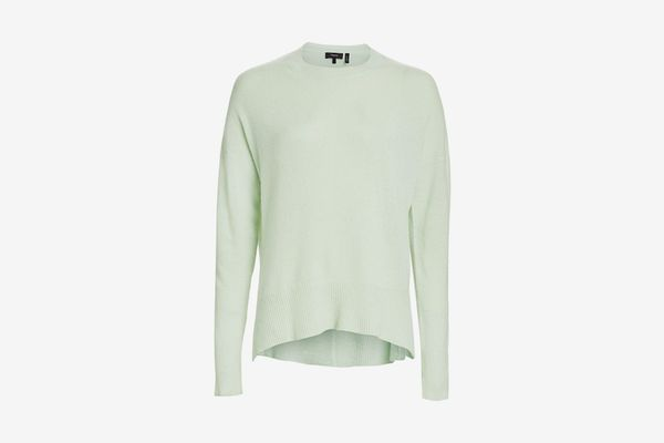 Theory Karenia Cashmere Knit Top, Opal Green