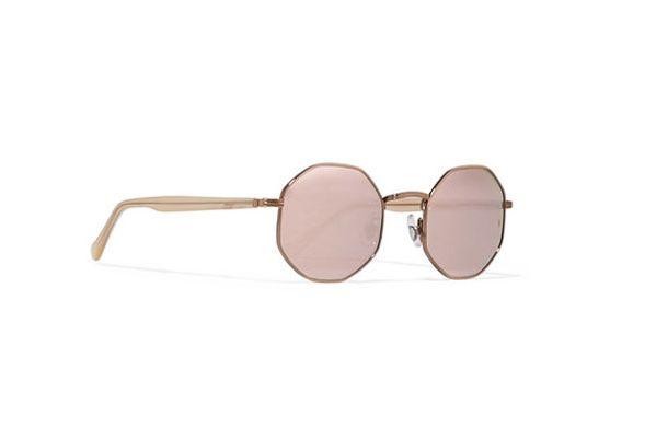 Sunday Somewhere Fabio Hexagon-Frame Mirrored Sunglasses