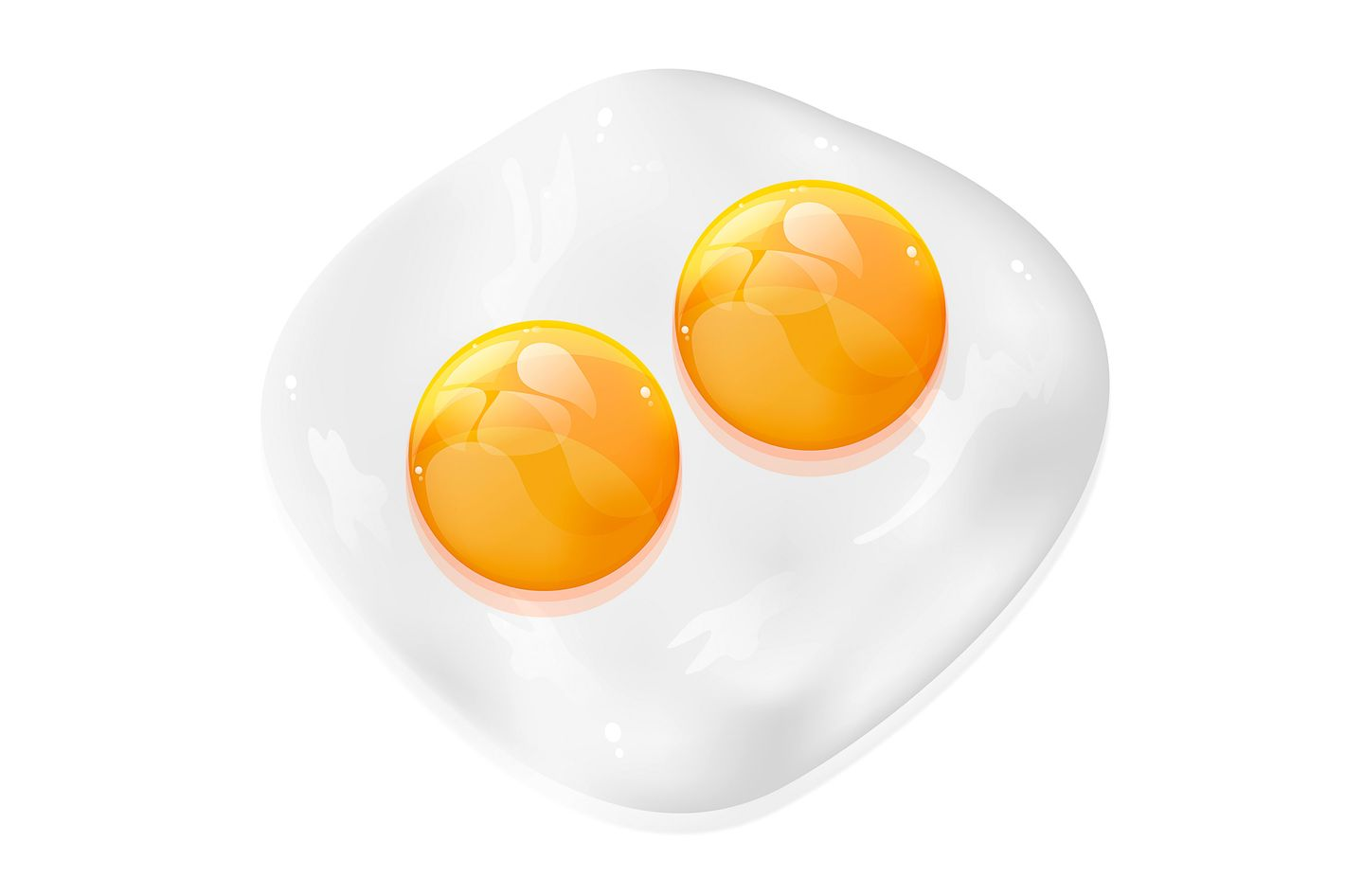 Triple yolks also happen occasionally.