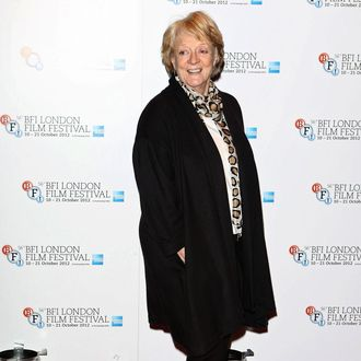 Actress Maggie Smith attends the