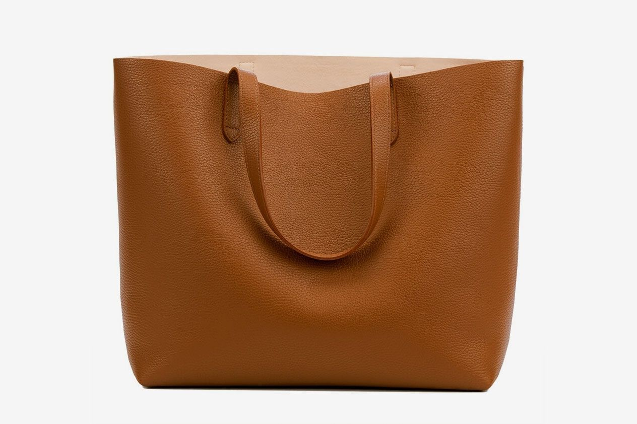 bfe3cd7d2d1d Classic Structured Leather Tote