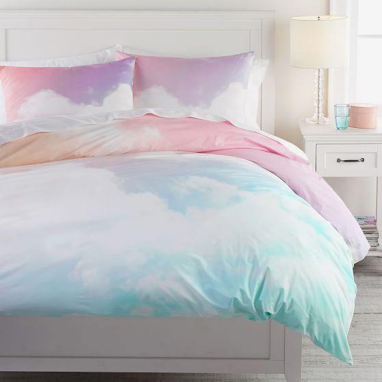 PBTeen Rainbow Sky Organic Duvet Cover