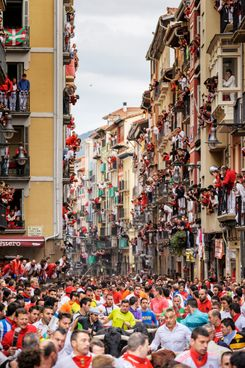 Scene from the festival of San Fermín