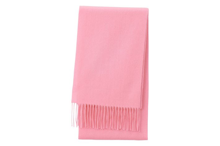 ddd7b0316f3f9 Uniqlo is the unofficial sanctuary for affordable cashmere in all of its  forms, and this scarf is a nice, noncommittal way to do millennial pink.
