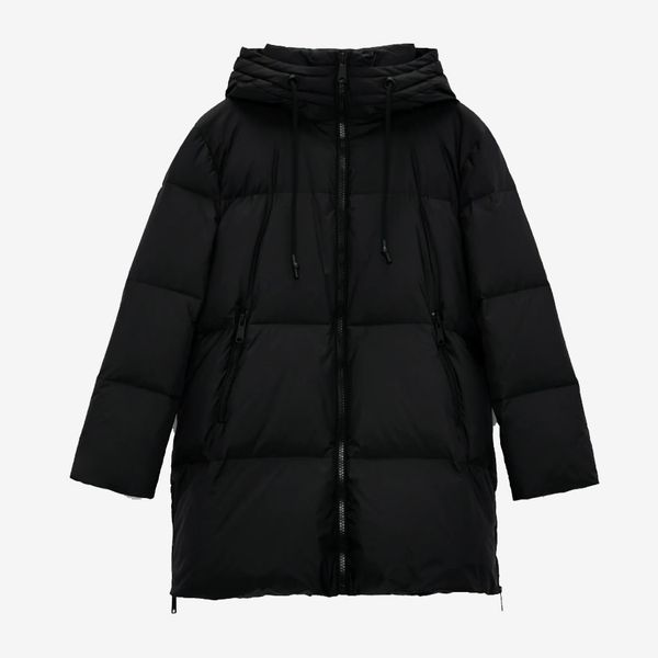 Zara Oversize Down Jacket With Water And Wind Protection