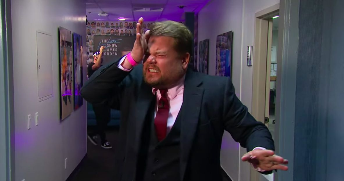 James Corden Makes a Very Painful Return to the Late Late Show Studio