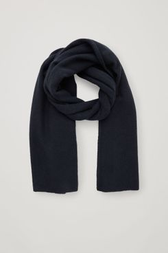 Cos Cashmere Scarf, Navy