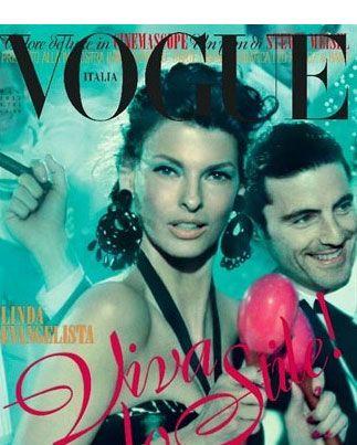 Linda Evangelista for <em>Vogue Italia</em>.