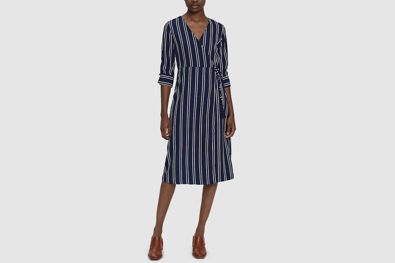 Stelen Emmy Striped Wrap Dress