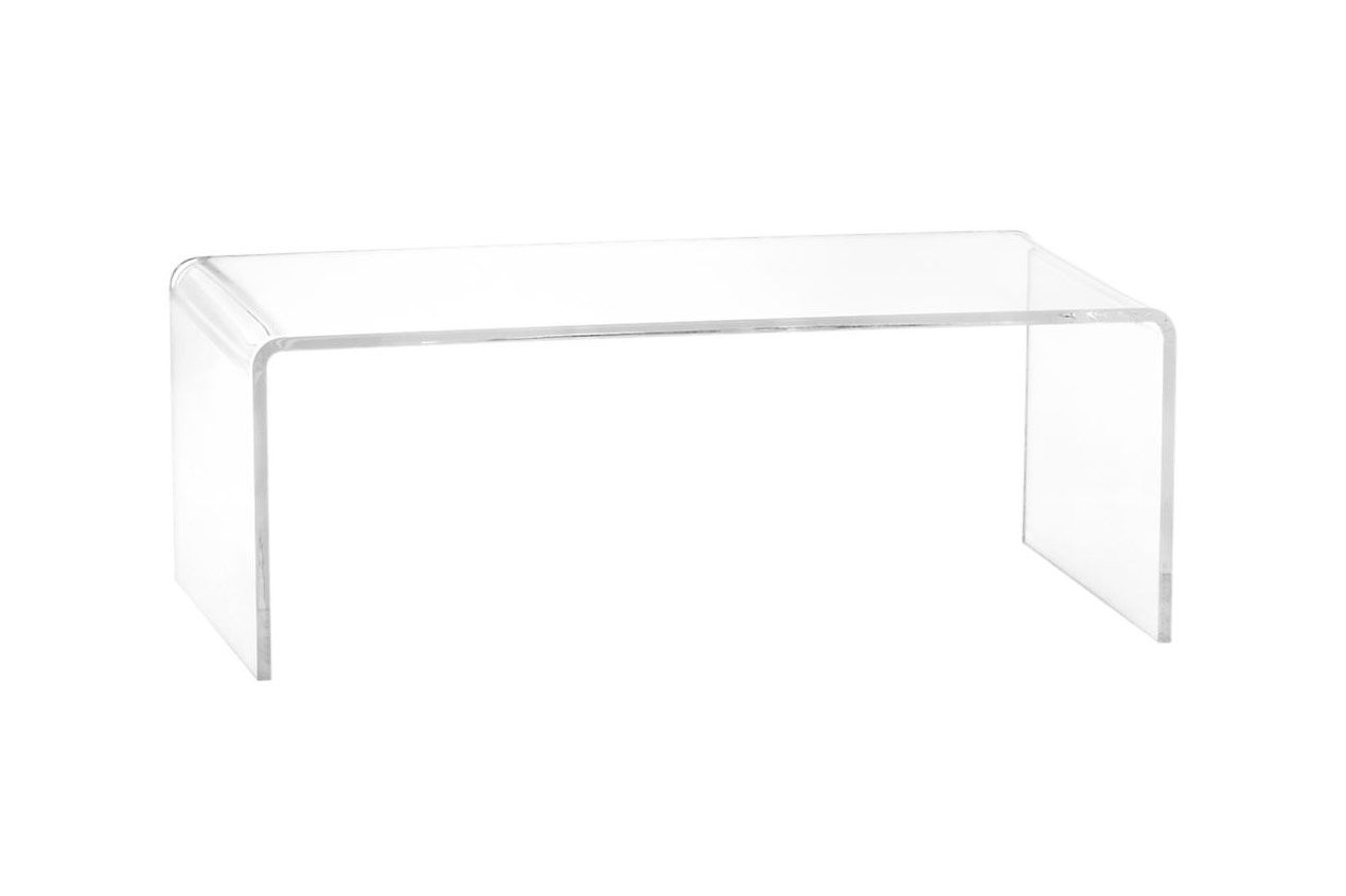 CB2 Peekaboo Acrylic Coffee Table