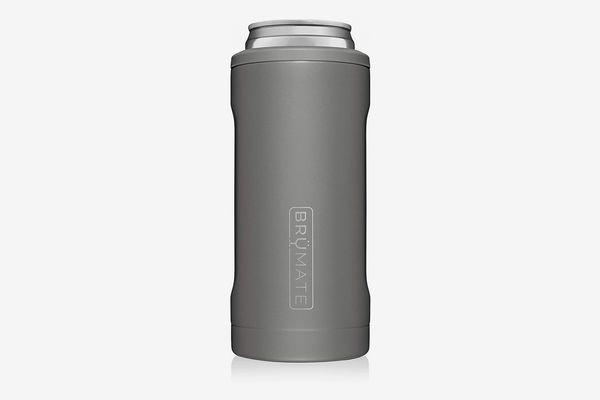 BrüMate Hopsulator Slim Stainless Steel Insulated Can Cooler, Matte Gray
