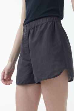 COS Linen Curved Hem Shorts
