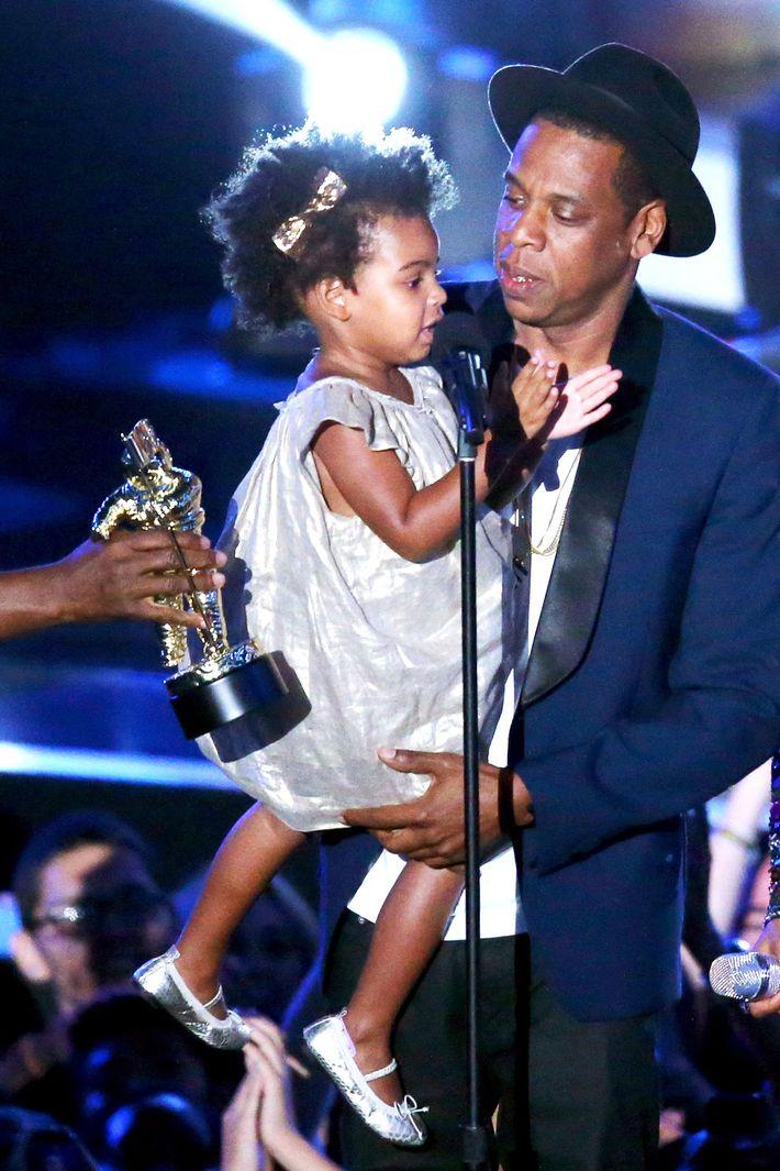 Blue Ivy with Jay Z.