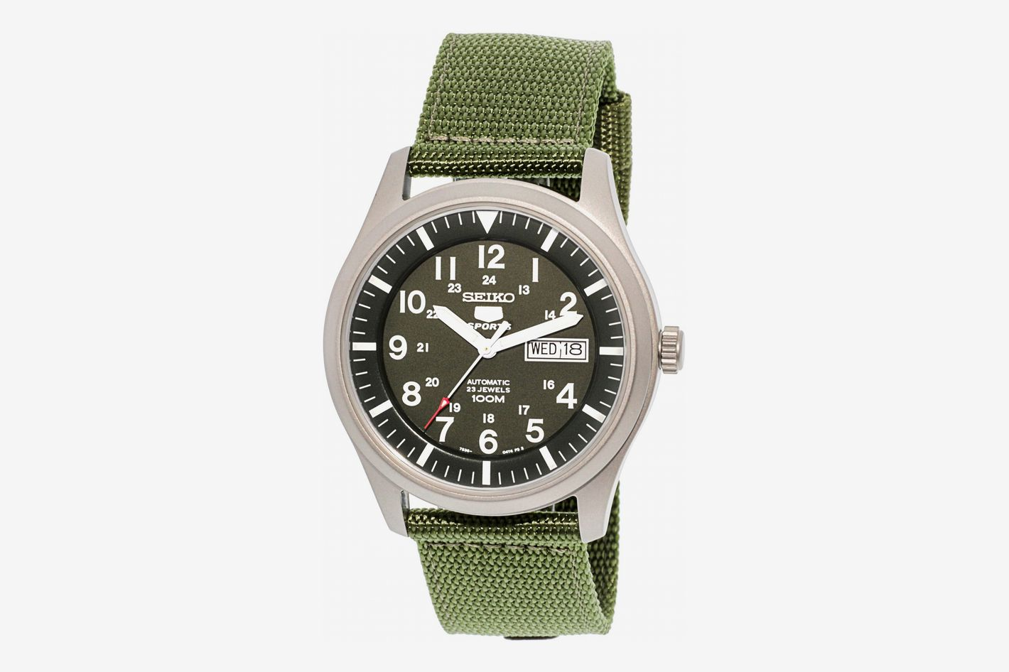 Seiko SNZG09 5 Sport Automatic Khaki Watch