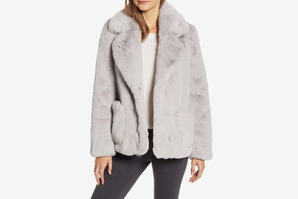 Ellen Tracy Faux Fur Jacket