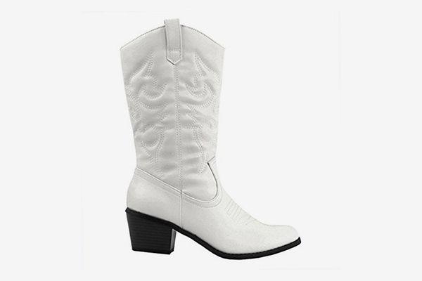 White Cowboy Boot