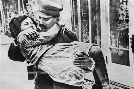 "Stalin and his ""sparrow."""