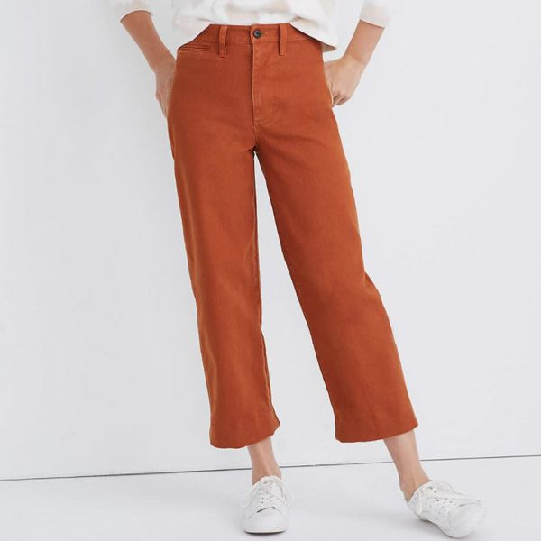 Madewell Slim Emmett Wide-Leg Crop Pants