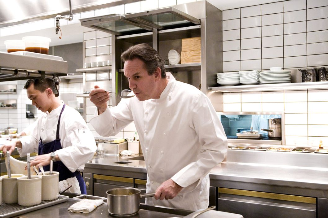 Thomas Keller - the chef of Per Se restaurant - It is located in the Time Warner building in front of Central Park in New York, United States on November 12th, 2005.