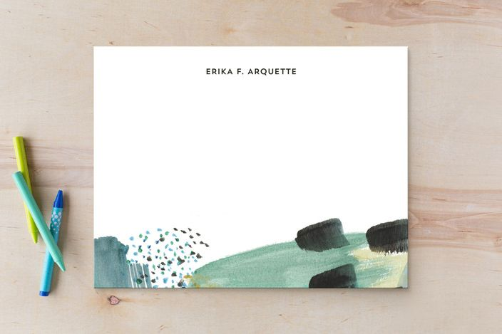 Erika Firm Abstract Savannah Georgia Flat Card