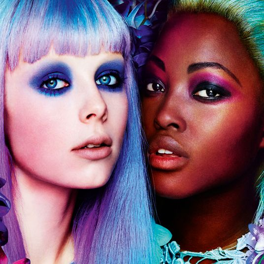 Edie Campbell and Nyasha Matonhodze for <em>Allure</em>.