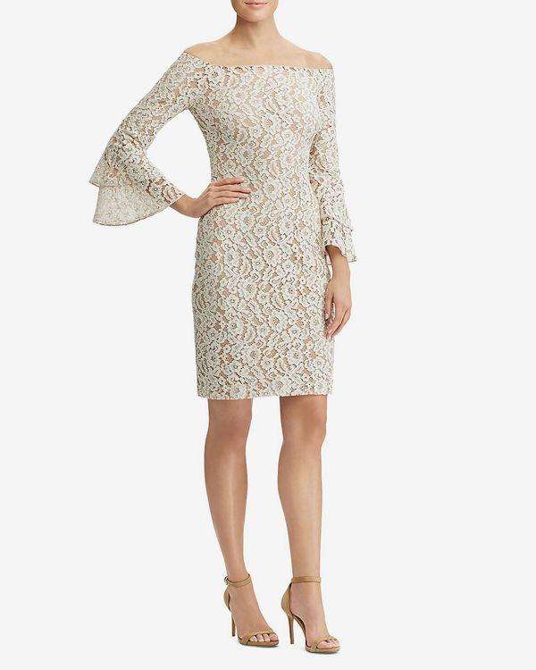 Lauren Ralph Lauren Off-the-Shoulder Lace Dress
