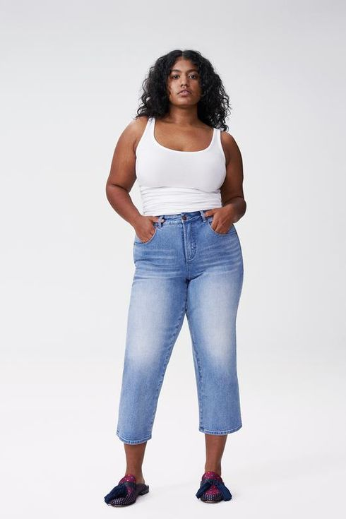 Model jeans image 22 Best Plus Size Jeans According To Real Women 2021 The Strategist