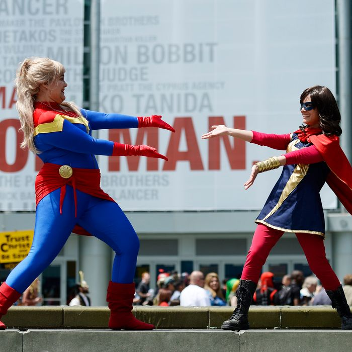 ANAHEIM, CA - APRIL 19: Costumed guests attend WonderCon Anaheim 2014 Day 2 at Anaheim Convention Center on April 19, 2014 in Anaheim, California. (Photo by Kevork Djansezian/Getty Images)