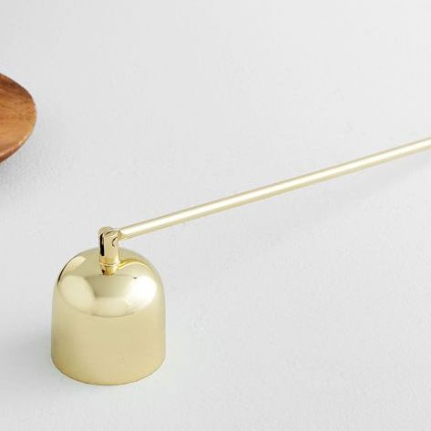 West Elm Brass Finished Snuffer