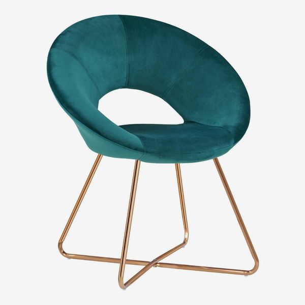 Duhome Design Dining Chair/Accent Chair With Metal Frame Legs and Velvet Seat