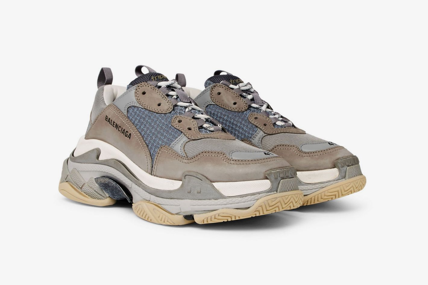 Balenciaga Triple S Mesh, Nubuck, and Leather Sneakers