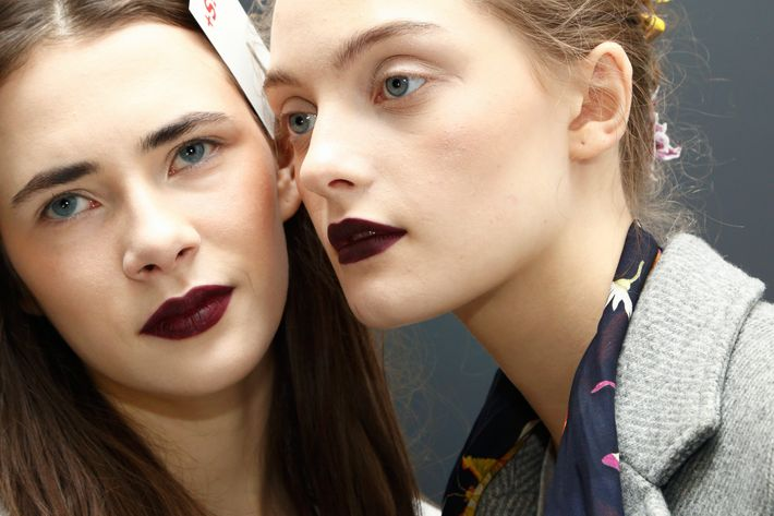 """I mean it,"" says the lipstick on these Rodarte models."