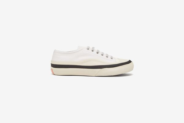 Acne Studios Blå Konst Cotton-Canvas Trainers