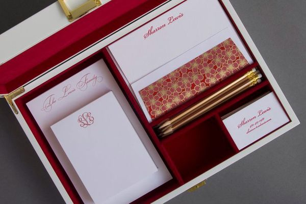 Haute Papier Red Stationery Wardrobe