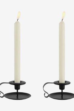 Black Iron Candlestick Holders