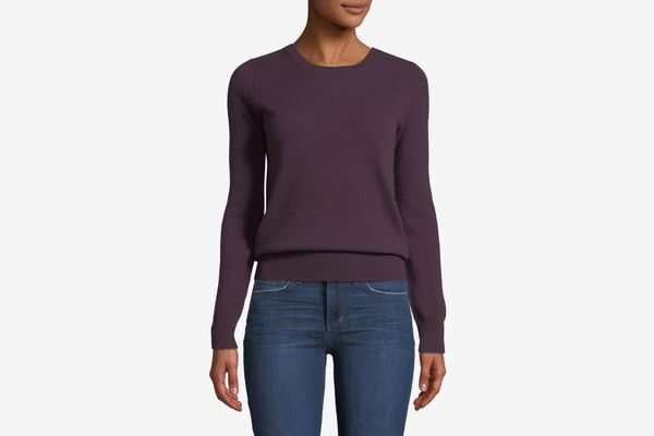 Neiman Marcus Cashmere Collection Classic Cashmere Crewneck Sweater