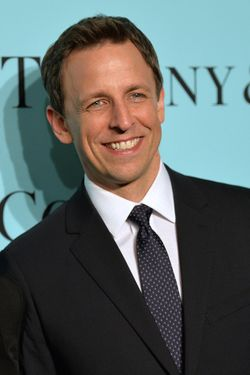 Seth Meyers attends the Tiffany Debut of the 2014 Blue Book on April 10, 2014 at the Guggenheim Museum in New York, United States.