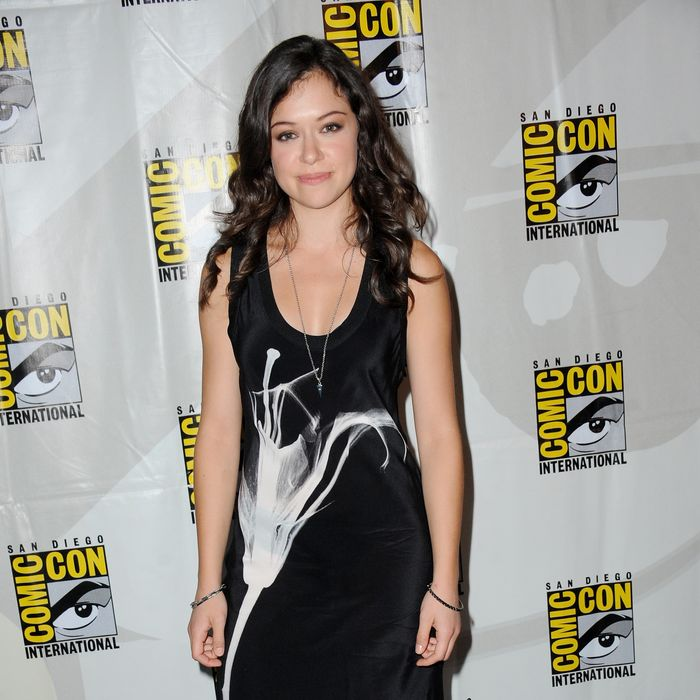 Actress Tatiana Maslany speaks onstage at Entertainment Weekly's